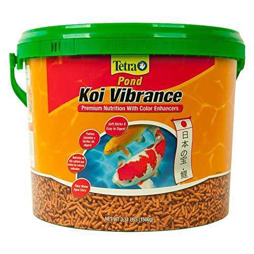 TetraPond 16459 Koi Vibrance Sticks 3.31 LBS (1500g), Enhances reds and yellows By Tetra Pond