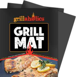 Grillaholics Grill Mat - Set of 2 Non Stick Grilling Mats
