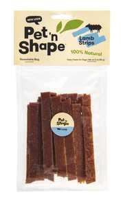 Pet 'n Shape All Natural Lamb Jerky Strip Dog Treats, 3 Oz. Bag