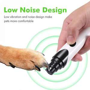 Pets Dog Cat Electric Nail Grinder Trimmer USB Charge Nails Grooming Tool For Pet Dogs Cat