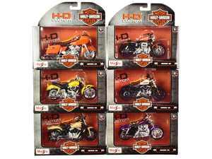 Maisto 31360-38 Harley-Davidson Motorcycles Set Series 38 1 by 18 Diecast Models - 6 Piece