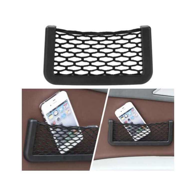 Holiday Clearance 2pcs Universal Car Seat Side Back Storage Elastic Mesh Net Bag Phone Holder Pocket Organizer