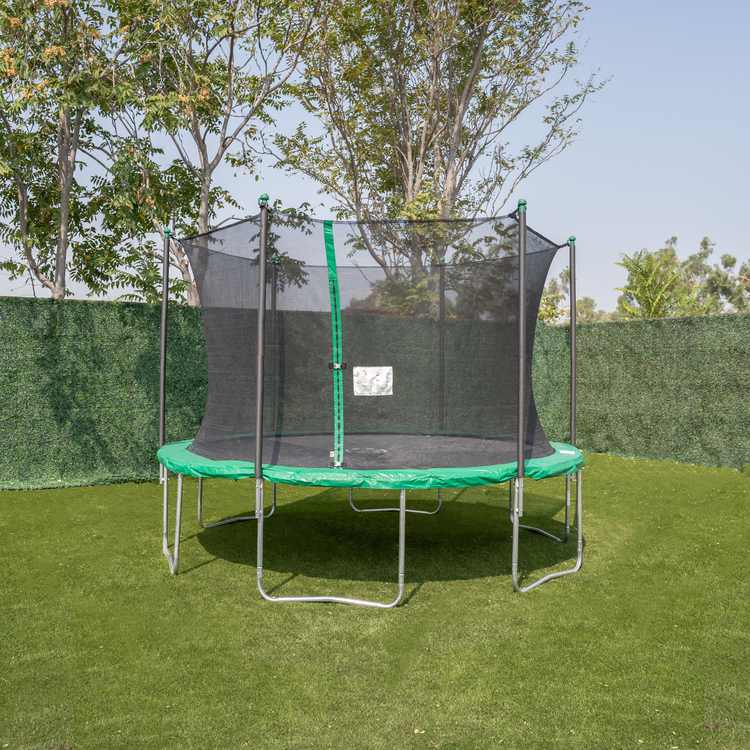 12' Trampoline with Enclosure, Green