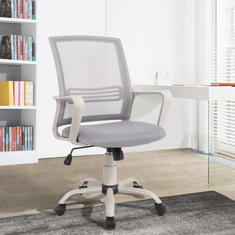 Office Chair,Computer Swivel Desk Chairs Ergonomic Task Chairs with Armrests,Gray