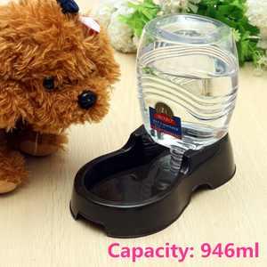 946ml Capacity Pet Water Dispenser Station, Auto Refill Gravity Waterer Drinking Bottle Bowl Dish for Dog Cat Rabbit