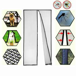 Hands-Free Magnetic Screen Door Cover Mesh Net Block Mosquito Fly Insect Bug Curtain