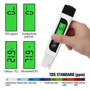 TDS Water Tester Digital Meter Test Pen , 3 in 1 TDS, Temperature and Conductivity Meter with Carry Case, 0-9999ppm, Ideal ppm Meter for Drinking Water, Aquariums and More