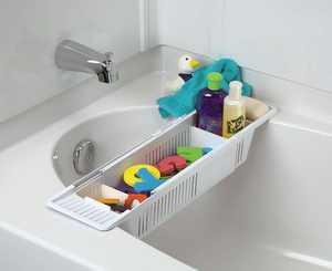Collection Kids Bath Toy Organizer and Bathtub Storage Basket Children Tub Shower Toy Organizer Holder 22''X5.5''