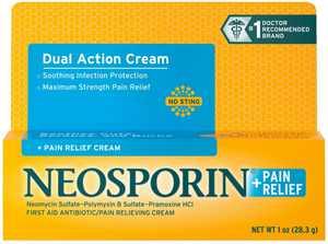 6 Pack - Neosporin + Pain Relief Cream Maximum Strength 1 oz