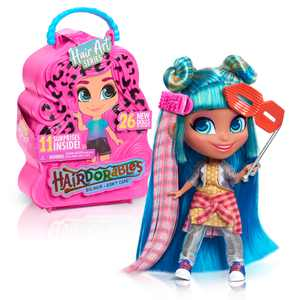 Hairdorables Collectible Doll Hair Art Series 5, styles and case colors may vary, each sold separately, Dolls, Ages 3 Up, by Just Play
