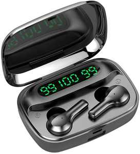 Wireless Bluetooth Earbuds, Bluetooth 5.0 Earphones with Digital LED Display, 2000 mAH Charging Case, 220H Playtime Noise Cancelling Headphone, IPX7 Waterproof Built-in Mic for Sport, Workout, Gym, L1