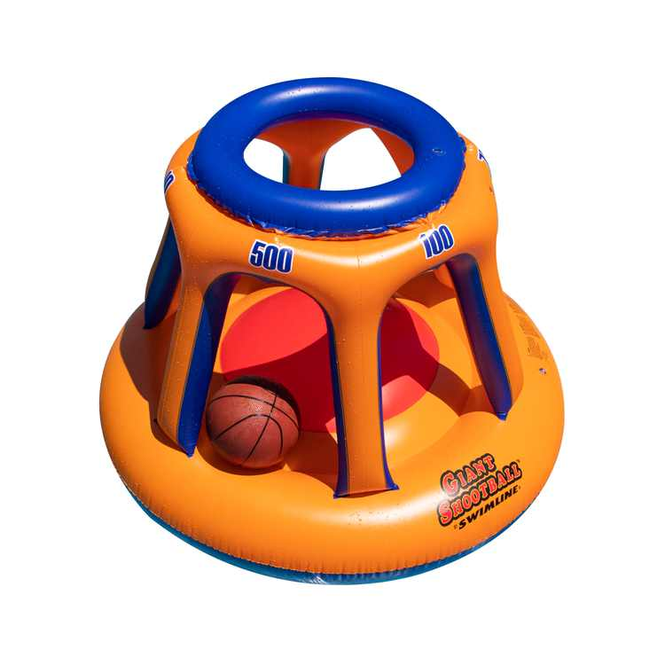 Swimline 90285 Basketball Hoop Giant Shootball Inflatable Fun Swimming Pool Toy