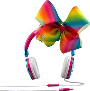 eKids - JoJo Siwa Wired On-Ear Headphones - White/Blue/Yellow/Green/Pink