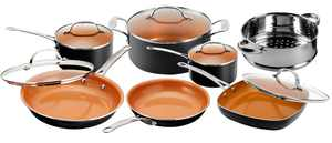 Gotham Steel 12 Piece Non-stick Cookware, Dishwasher Safe, Pots and Pans Set