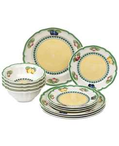 French Garden 12-Pc. Dinnerware Set, Service for 4, Created for Macy's