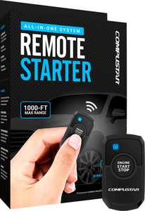 Compustar - 1-Button Remote Starter T-Harness Kit (2nd Gen) - Installation Required - Black