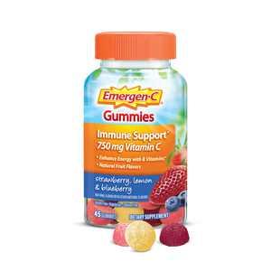 Emergen-C Adult Vitamin C Gummies for Immune Support, Fruit, 45 Ct