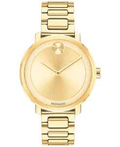 Women's Swiss BOLD Gold-Tone Stainless Steel Bracelet Watch 34mm
