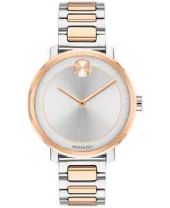 Women's Swiss BOLD Two-Tone Stainless Steel Bracelet Watch 34mm