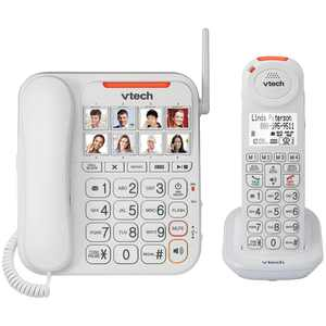 VTech VTSN5147 Amplified Corded/Cordless Answering System With Big Buttons & Display
