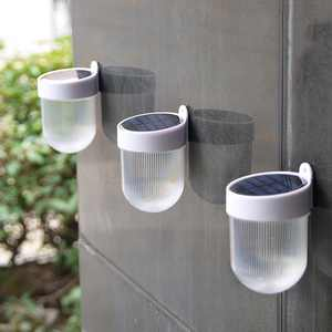 Anself Solar Power Outdoor Rechargeable ABS Poly-silicon Fence Garden Home Decoration Waterproof Wall Light