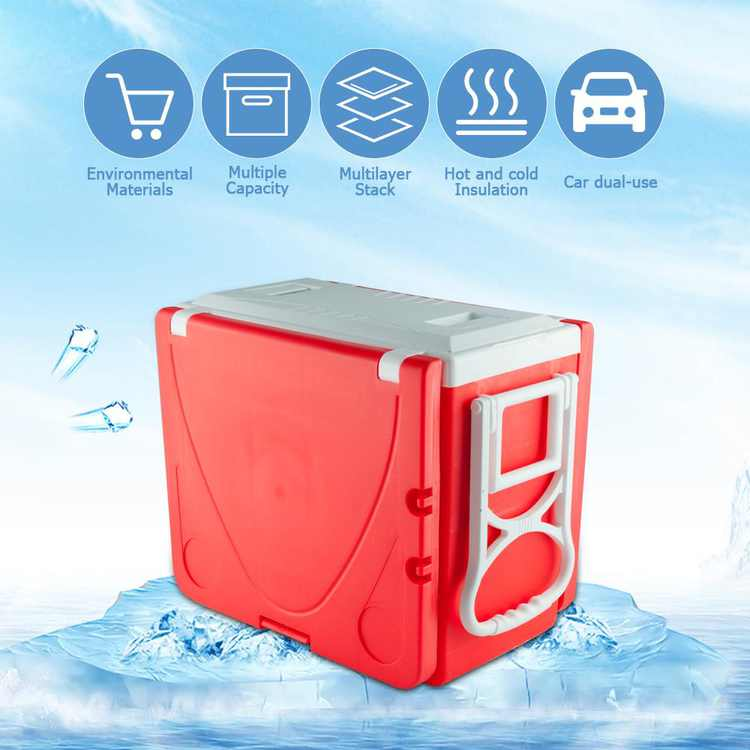 Zimtown Outdoor Portable Rolling Cooler w/Table & 2 Foldable Chairs for Picnic Camping