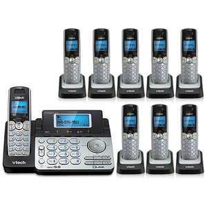 Vtech DS6151 Base + DS6101-8 Expandable 2-line Cordless Phone Bundle