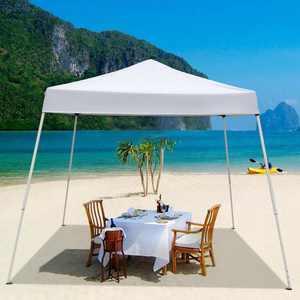 Zimtown 10'x10' Instant Canopy POP Up Wedding Party Tent Folding Gazebo Beach Canopy withCarry Bag Blue