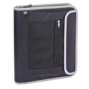 "Pen + Gear Pocket Zipper Binder, 1.5"", Zipper Binder, 11.75 x 2 x 14 Black"