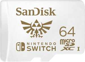 SanDisk - 64GB microSDXC UHS-I Memory Card for Nintendo Switch