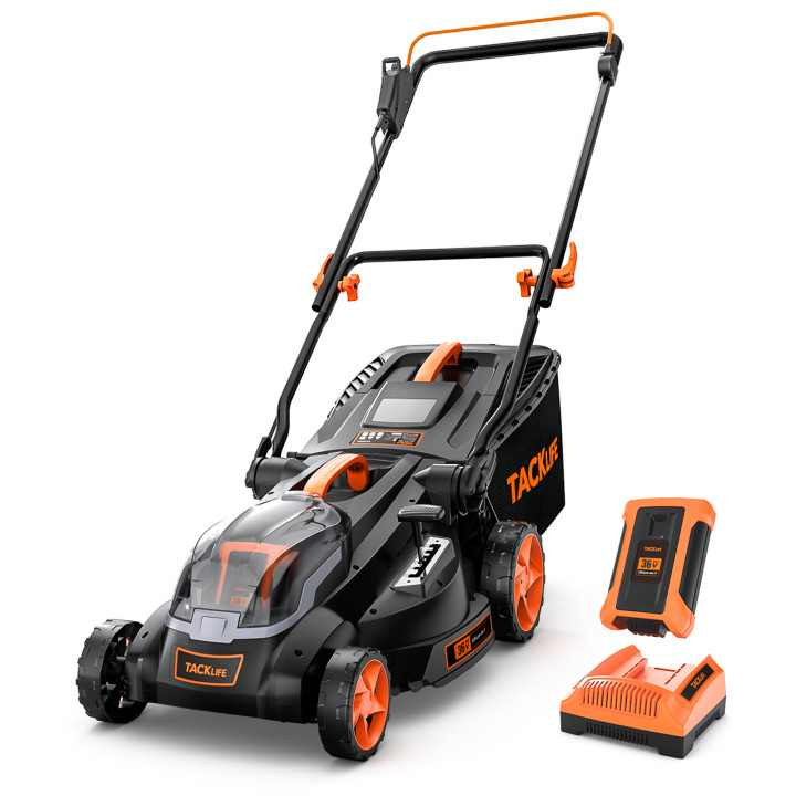 TACKLIFE 40V MAX 4.0Ah 16in Cordless Lawn Mower with Copper Brushless Motor - KDLM4040A