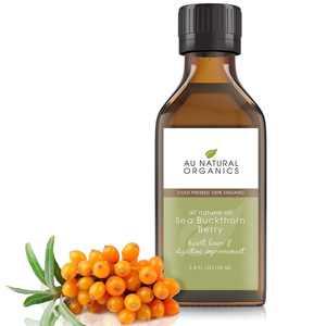 Au Natural Organics Sea Buckthorn Oil - 100% Pure Premium Grade Moisturizing Oil 3.4oz 100ml