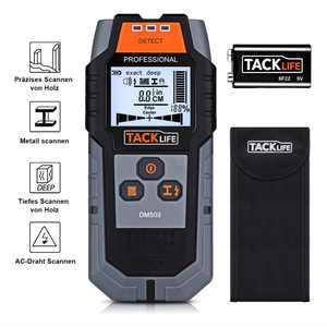 TACKLIFE Stud Finder, Wall Scanner 3 in 1 Metal, Wood Wall Detector - DMS03