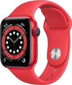Apple Watch Series 6 (GPS + Cellular) 40mm (PRODUCT)RED Aluminum Case with (PRODUCT)RED Sport Band - (PRODUCT)RED