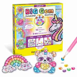 Creativity for Kids Big Gem Diamond Painting Magical - Child Craft Kit for Boys and Girls