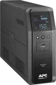 APC - Back-UPS Pro 1500VA 10-Outlet/2-USB Battery Back-Up and Surge Protector - Black