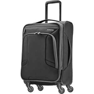"American Tourister - 4 Kix 21"" Expandable Spinner - Black/Gray"