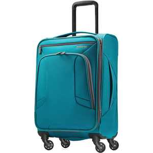 "American Tourister - 4 Kix 21"" Expandable Spinner Luggage - Teal/Gray"
