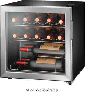 Insignia - 14-Bottle Wine Cooler - Stainless steel