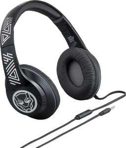 eKids Black Panther Co Branded Headphones - Black