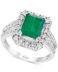 Brasilica by EFFY Emerald (2-1/5 ct. t.w.) & Diamond (1/2 ct. t.w.) Ring in 14k White Gold & 14k Yellow Gold