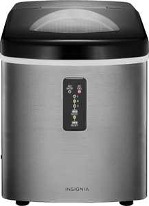 Insignia - 33-Lb. Portable Ice Maker - Stainless steel