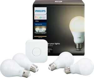 Philips - Hue White A19 LED Starter Kit - California Residents - White