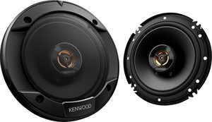 """Kenwood - Road Series 6-1/2"""" 2-Way Car Speakers with Cloth Cones (Pair) - Black"""