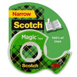 Scotch Magic Tape, 1/2 in x 800 in, Clear, 1 Dispenser/Pack