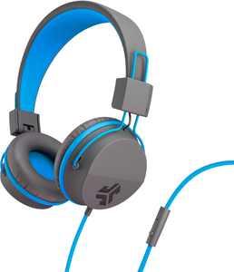 JLab Audio - JBuddies Studio Wired Over-the-Ear Headphones - Gray/Blue