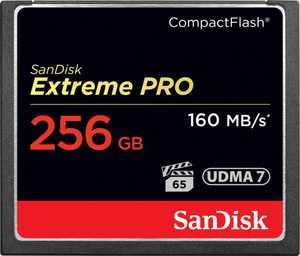 SanDisk - Extreme 256GB CompactFlash (CF) Memory Card