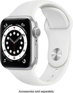 Apple Watch Series 6 (GPS) 40mm Silver Aluminum Case with White Sport Band - Silver