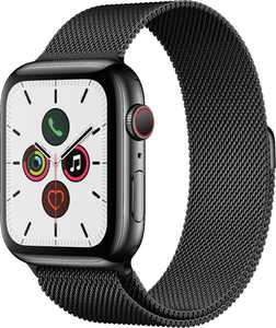 Apple Watch Series 5 (GPS + Cellular) 44mm Space Black Stainless Steel Case with Space Black Milanese Loop - Space Black Stainless Steel