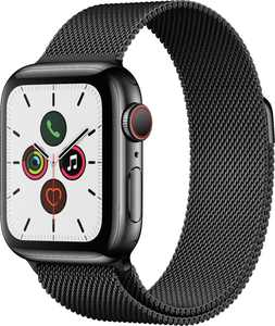 Apple Watch Series 5 (GPS + Cellular) 40mm Space Black Stainless Steel Case with Space Black Milanese Loop - Space Black Stainless Steel